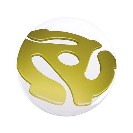 """Gold 3D 45 RPM Adapter 3.5"""" Button"""