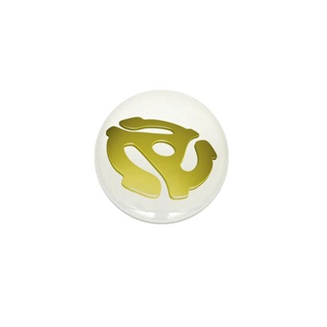 Gold 3D 45 RPM Adapter Mini Button (10 pack)