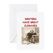 author and writers joke Greeting Card