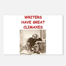 author and writers joke Postcards (Package of 8)