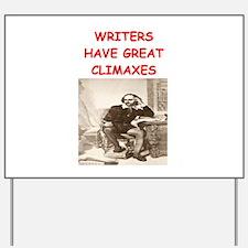 author and writers joke Yard Sign
