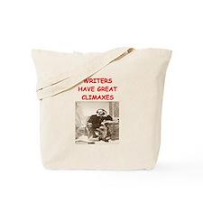 author and writers joke Tote Bag
