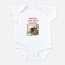 author and writers joke Infant Bodysuit