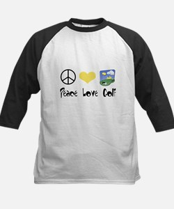 Peace Love Golf Kids Baseball Jersey