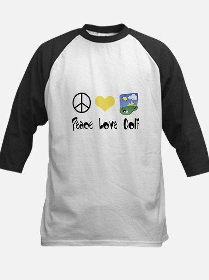 Peace Love Golf Kids Baseball Jersey