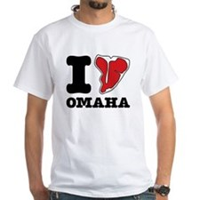 I Steak Omaha T-Shirt (White)