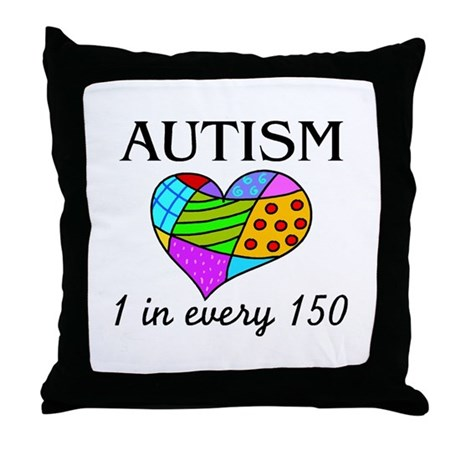 Autism (1 in every 150) Throw Pillow