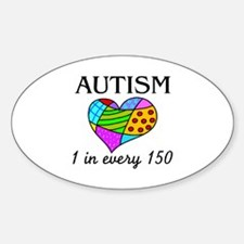 Autism (1 in every 150) Oval Decal