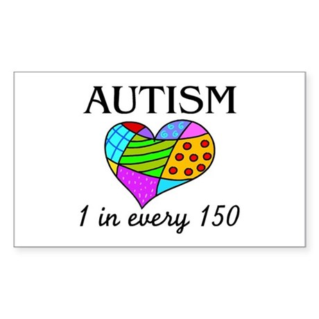 Autism (1 in every 150) Rectangle Sticker