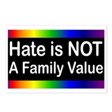Hate is Not a Family Value Postcards (Package of 8