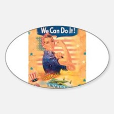 Rosie the Riveter Oval Decal
