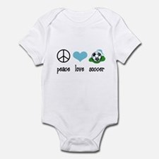Peace Love Soccer Infant Bodysuit