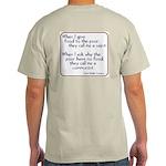 (Back) Dom Helder Camara quote Ash Grey T-Shirt
