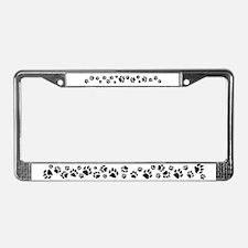 Cat Tracks License Plate Frame