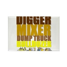 Construction Machines Rectangle Magnet (10 pack)