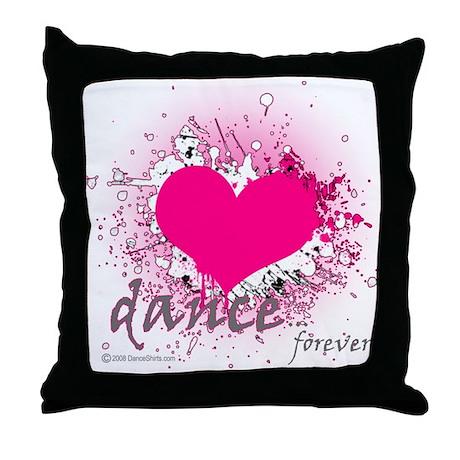 Love Dance Forever Throw Pillow