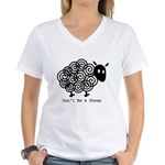 Don't Be A Sheep Women's V-Neck T-Shirt