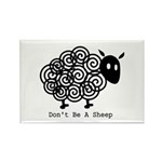 Don't Be A Sheep Rectangle Magnet (10 pack)
