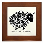 Don't Be A Sheep Framed Tile