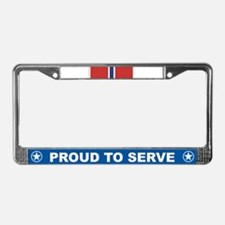 Bronze Star License Plate Frame