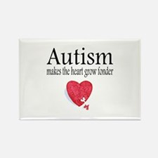 Autism Makes The Heart Grow Fonder Rectangle Magne