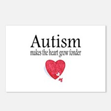 Autism Makes The Heart Grow Fonder Postcards (Pack