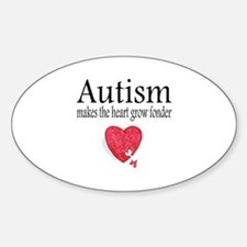 Autism Makes The Heart Grow Fonder Oval Decal