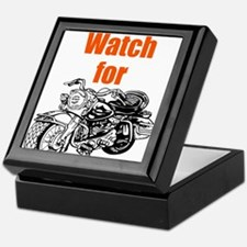 Watch for Motorcycles Keepsake Box