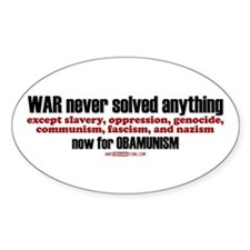 now for OBAMUNISM Oval Decal