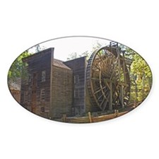 Bale Gristmill Oval Decal