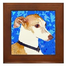 Italian Greyhound Framed Tile