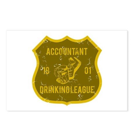Accountant Drinking League Postcards (Package of 8