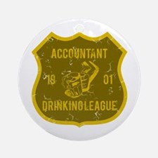 Accountant Drinking League Ornament (Round)