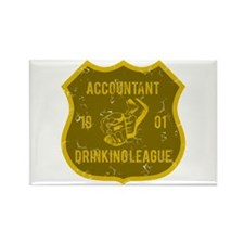 Accountant Drinking League Rectangle Magnet
