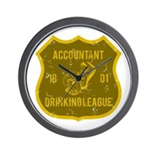 Accountant Drinking League Wall Clock