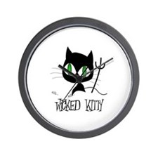 Wicked Kitty Wall Clock