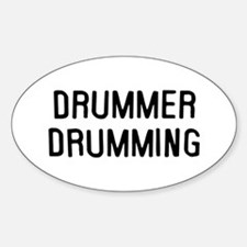 Drummer Sticker (Oval)