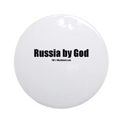 Russia by God (TM) Ornament (Round)