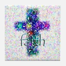 Faith Cross Tile Coaster