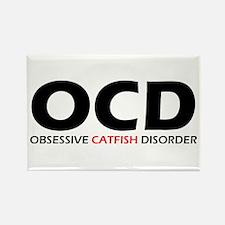Obsessive Catfish Disorder Rectangle Magnet