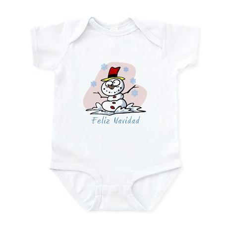 Merry Spanish Snowman Infant Bodysuit