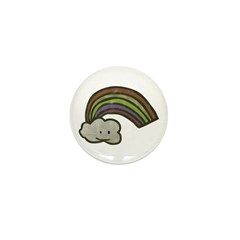 Vintage Smiling Cartoon Rainb Mini Button (100 pac