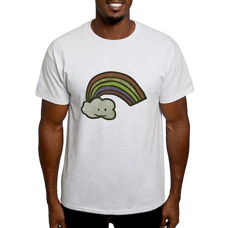 Vintage Smiling Cartoon Rainb Light T-Shirt