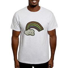 Vintage Smiling Cartoon Rainb T-Shirt