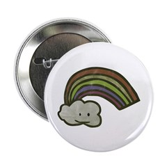 "Vintage Smiling Cartoon Rainb 2.25"" Button (1"