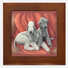 Bedlington Puppy Love Framed Tile