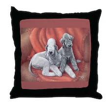 Bedlington Puppy Love Throw Pillow