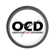 Obsessive Cat Disorder Wall Clock