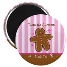Sweet Gingerbread Thank You Magnet