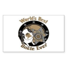 Top Dog Uncle Rectangle Decal